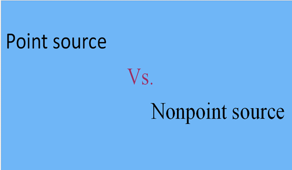 The Principle differences between point source and ...
